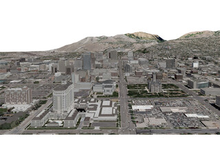 Salt Lake City (USA) 3D Model