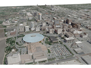 Wichita City 3D Model