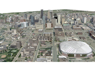 Minneapolis City 3D Model