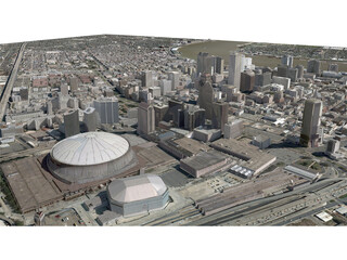 New Orleans City (USA) 3D Model