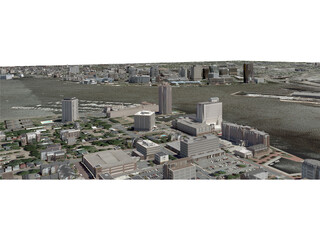 Norfolk City (USA) 3D Model