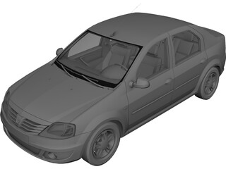 Renault (Dacia) Logan (2008) 3D Model
