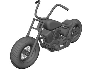 Turk Motorcycle CAD 3D Model