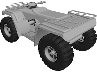 Honda Rancher CAD 3D Model