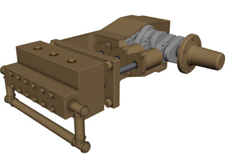 High Pressure Waterblasting Pump 3D Model