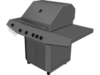 BBQ Grill 3D Model 3D Preview