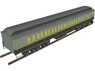 Canadian Parlor Car 3D Model