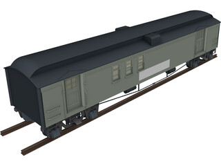 Canadian Mail Car 3D Model