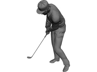 Golf Player 3D Model