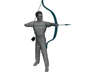 Man with Bow and Arrow 3D Model