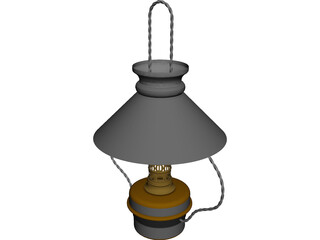Kitchen Hanging Lamp CAD 3D Model
