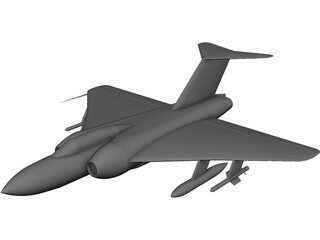 Gloster Javelin CAD 3D Model
