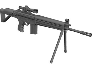 Sniper Rifle CAD 3D Model