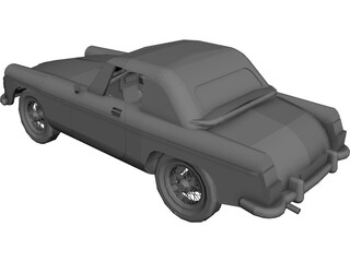 MGB Sports Car CAD 3D Model