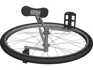 Unicycle CAD 3D Model