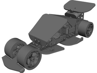 Controlled Car CAD 3D Model
