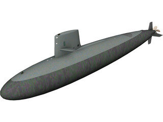 Skipjack SSN Submarine 3D Model