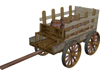 Cart of Barn 3D Model