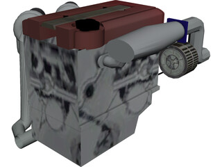 Engine Honda VTEC DOHC 3D Model