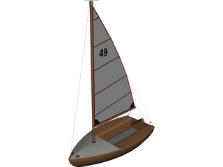 Boat Small CAD 3D Model