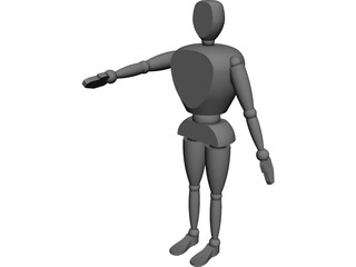 Anthropomorphic Man [NURBS] 3D Model