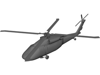 Sikorsky UH-60 Black Hawk CAD 3D Model