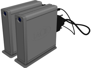 Lacie Hard Drive 3D Model