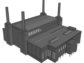 Battersea Power Station 3D Model