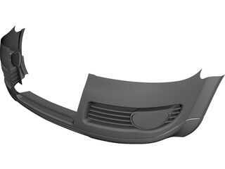 Body Bumper Audi CAD 3D Model