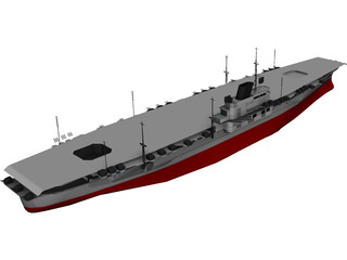 Shinano Aircraft Carrier 3D Model