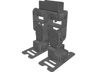 Biped Servo Robot CAD 3D Model