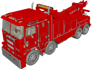 Kenworth K100 Fire Wrecker 3D Model