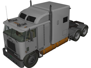 International 9600 Cabover 3D Model