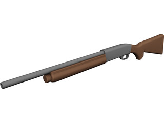 Remington 11-87 Police CAD 3D Model