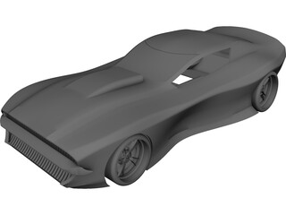 Muscle Car Concept 3D Model 3D Preview