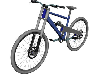 Bicycle Professional Downhill 3D Model