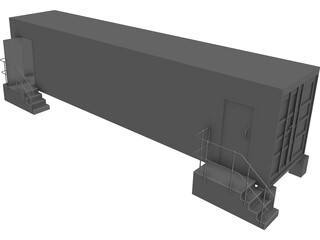 Shipping Container 40 foot CAD 3D Model