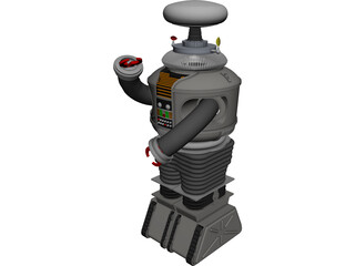 Lost in Space Robot CAD 3D Model