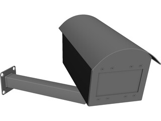 Fake Security Camera CAD 3D Model