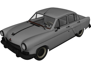 GAZ 21 Russian Classic Car 3D Model
