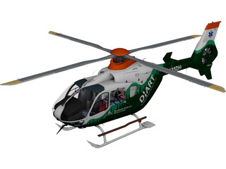Eurocopter EC-135 3D Model 3D Preview