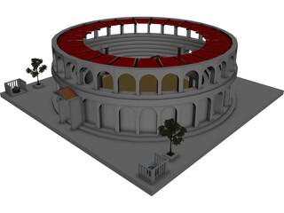 Provincial Ancient Arena 3D Model