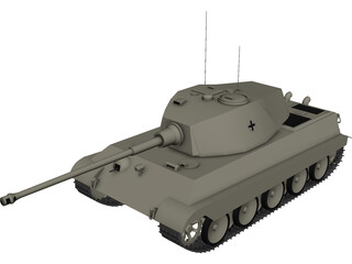 Tiger II King Tiger 3D Model