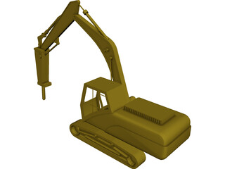 Rock Breaker CAD 3D Model