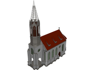Church 3D Model 3D Preview