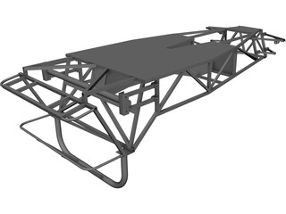 Frame Lotus Seven CAD 3D Model