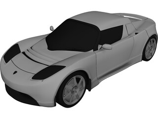 Tesla Roadster 3D Model 3D Preview