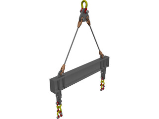 Spreader Beam CAD 3D Model