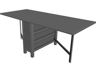 Foldable Table 3D Model