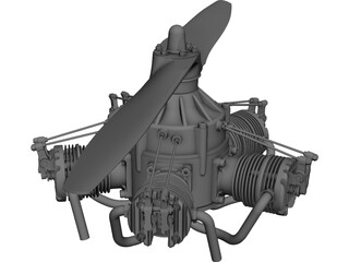 Sternmotor Engine CAD 3D Model
